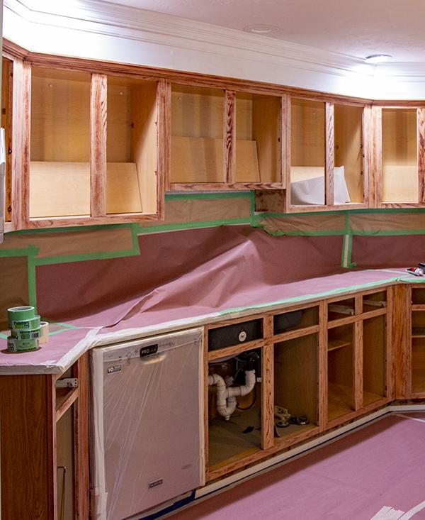 Castle Complements Kitchen Cabinet Painting Soffit