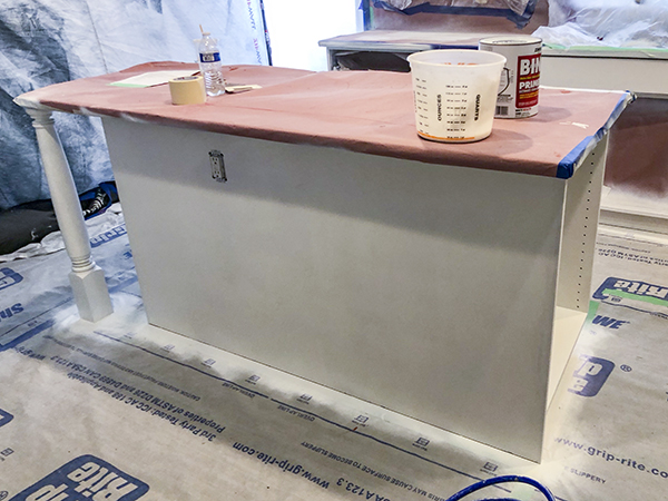 Castle Complements Painting Kitchen Cabinet Painting priming again 3091