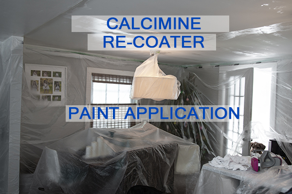 Castle Complements Painting Peeling Ceiling Paint Calcimine Recoater Paint Application_IMG_9755b