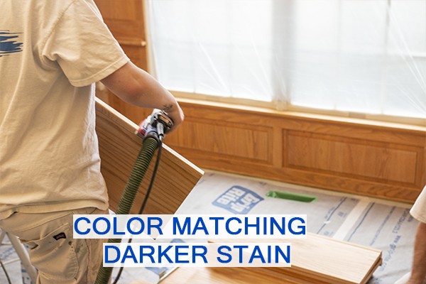 Castle Complements Painting Stain Wood Darker Color Matching Darker Stain_IMGb_9965