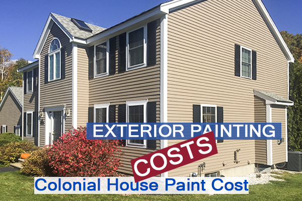 6873- Castle Complements Painting Exterior Painting Colonial House Paint Costs
