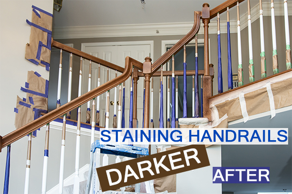Castle Complements Painting Stain Handrails Darker After_IMG_0009