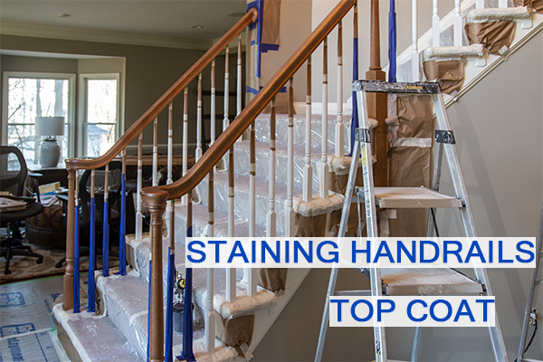 Castle Complements Painting Stain Handrails Darker Top Coat_IMG_0006