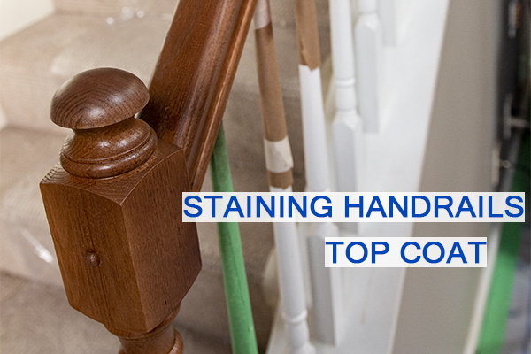Castle Complements Painting Stain Handrails Darker Top Coat_IMG_0025